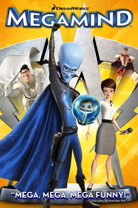 Megamind Movie Poster - Will Ferrell, Tina Fey, Jonah Hill  #Megamind, #MoviePoster, #KidsFamily, #TomMcGrath, #JonahHill, #TinaFey, #WillFerrell