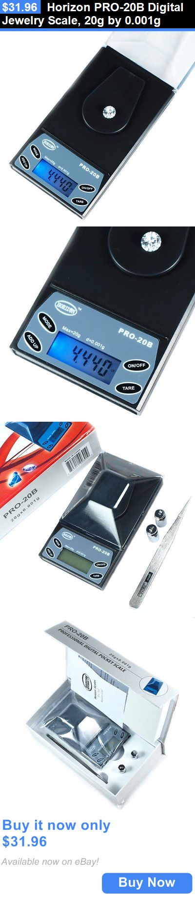 Pocket Digital Scales: Horizon Pro-20B Digital Jewelry Scale, 20G By 0.001G BUY IT NOW ONLY: $31.96