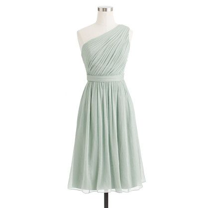 J. Crew Kylie dress in silk chiffon--in misty rose, champagne or dusty shale (pictured) LOVE