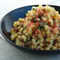 ananas koriander salsa