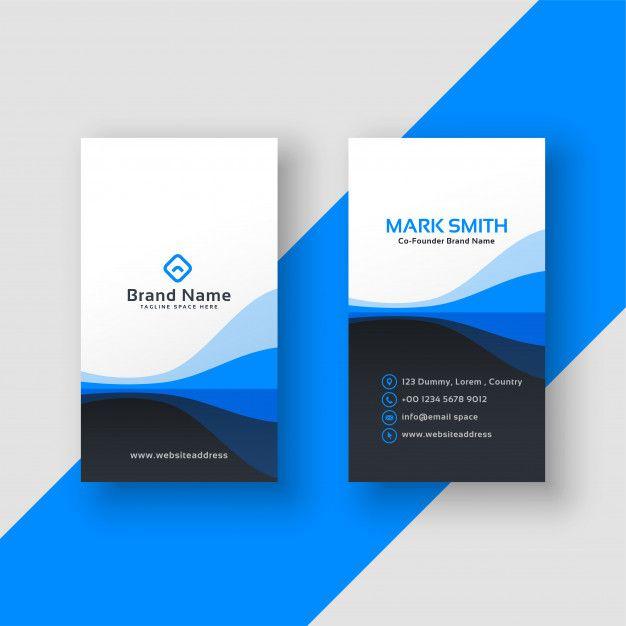 Pobierz Pionowy Wizytowki Niebieski Szablon Za Darmo Business Card Design Inspiration Vector Business Card Vertical Business Cards