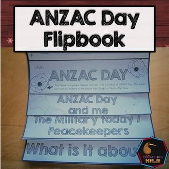 Awesome flipbook for students to assemble while learning about ANZAC Day.