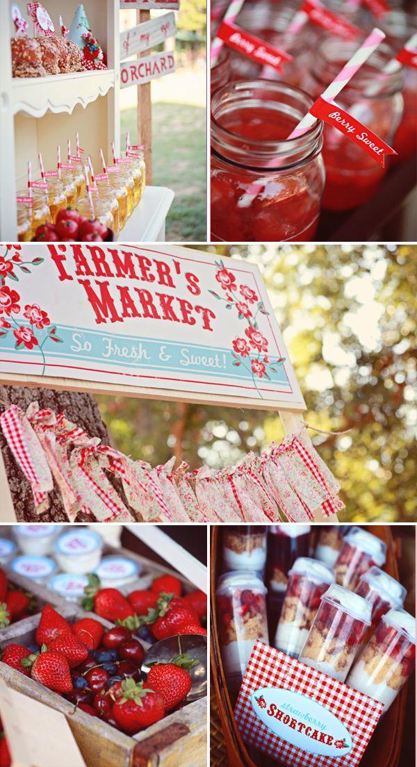 Farmer Market Party Lulu Designs Via Shop Sweet Greyson Birthday Or A Baby Girls First Either Way Such Unique Idea