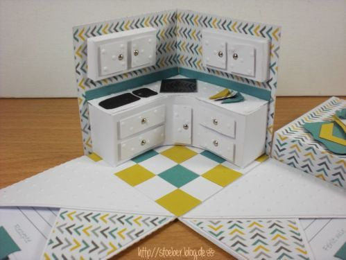 stampin  up, Explosion Box kitchen inside ;-)