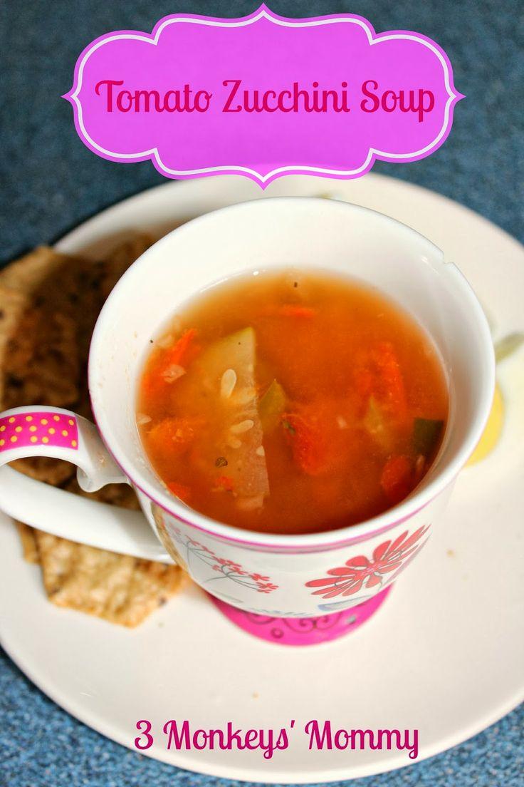... Monkeys' Mommy: Tomato Zucchini Soup | Recipes - Soup and Chili Tim