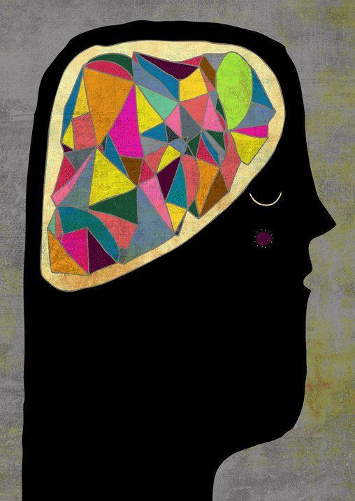 Brain Art Print by Schalle