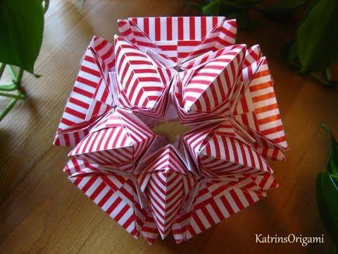 Origami ɛ♥ɜ Air Kiss ɛ♥ɜ Kusudama – YouTub…