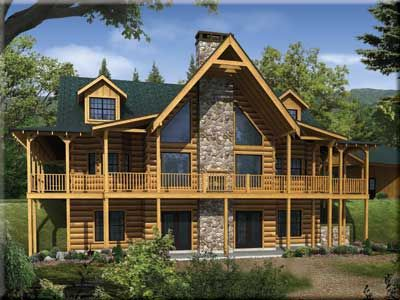 Satterwhite Log Homes The Misty Ridge Our House Will Be