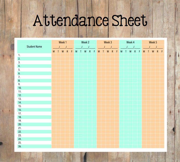 Ponad 25 najlepszych pomysłów na Pintereście na temat Attendance ...