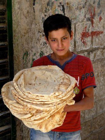 Nan in Afghanistan..  tastiest stuff !!! love with hummus !!