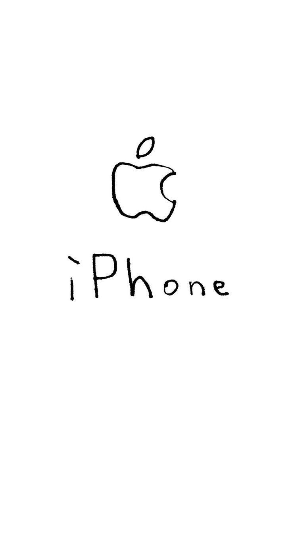 Iphone Wallpaper Illustrations Apple Logo Iphone White