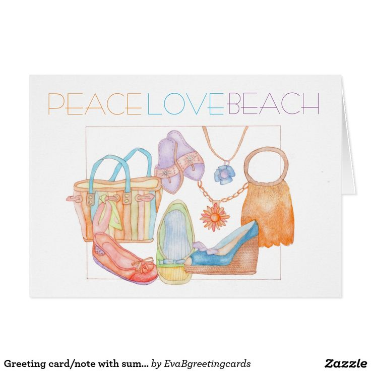 Greeting card/note with summer design