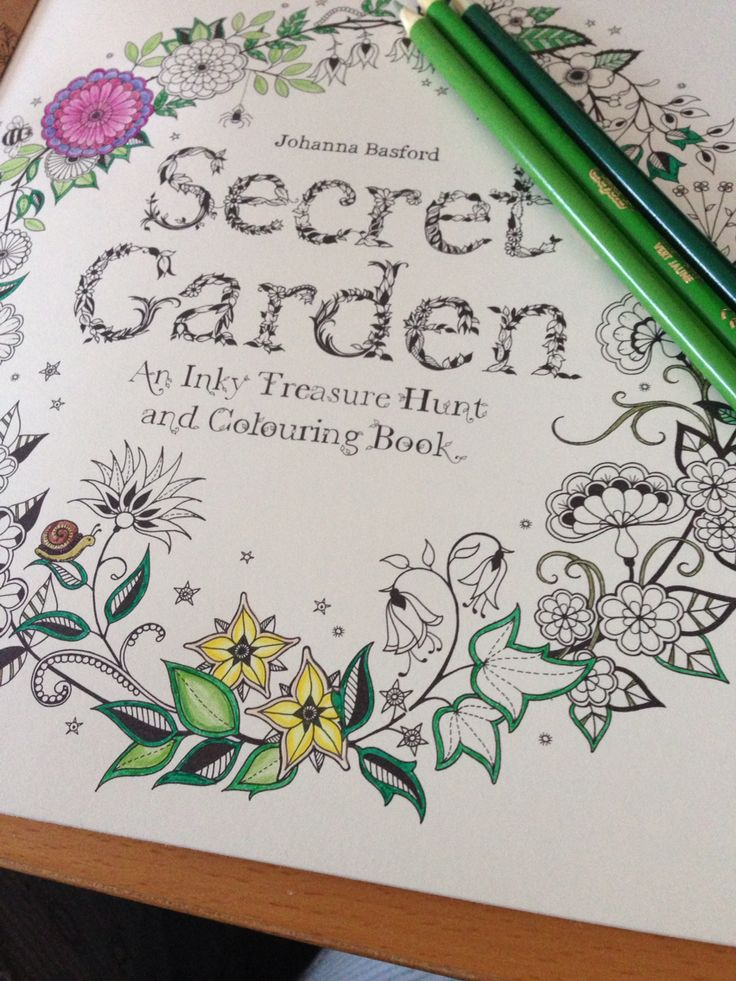 Starting My Secret Garden Colouring Book Title Page First