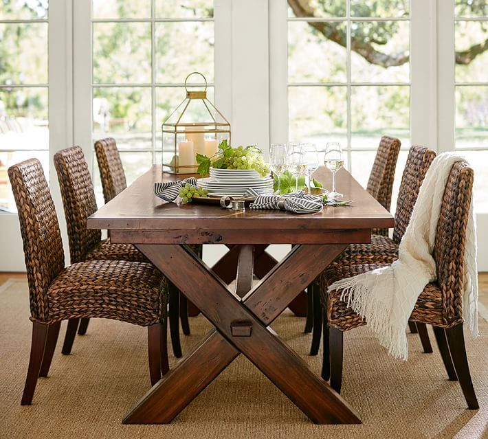 dining room toscana extending dining table pottery barn 1699