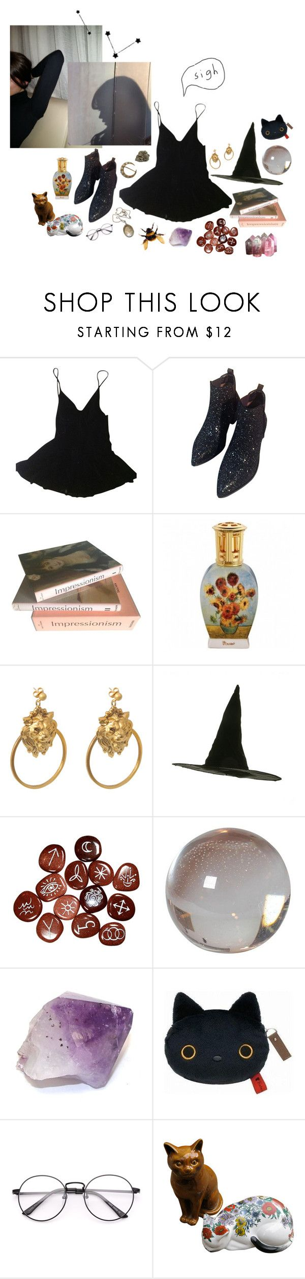"""Untitled #60"" by thestarrynightsky ❤ liked on Polyvore featuring Katharine Hamnett, WithChic, Taschen, Ela Stone, Vintage Collection, DK and Fornasetti"