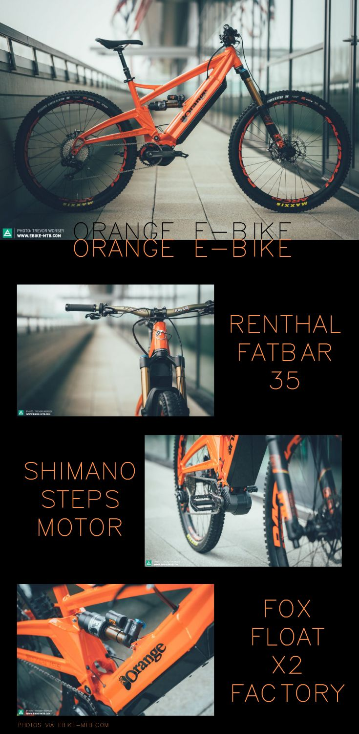 Orange Mountain Bikes, Shimano STEPS Mid Drive Motor, Hardcore Enduro/Downhill Electric Bike! What more could you ask for from an e-bike?
