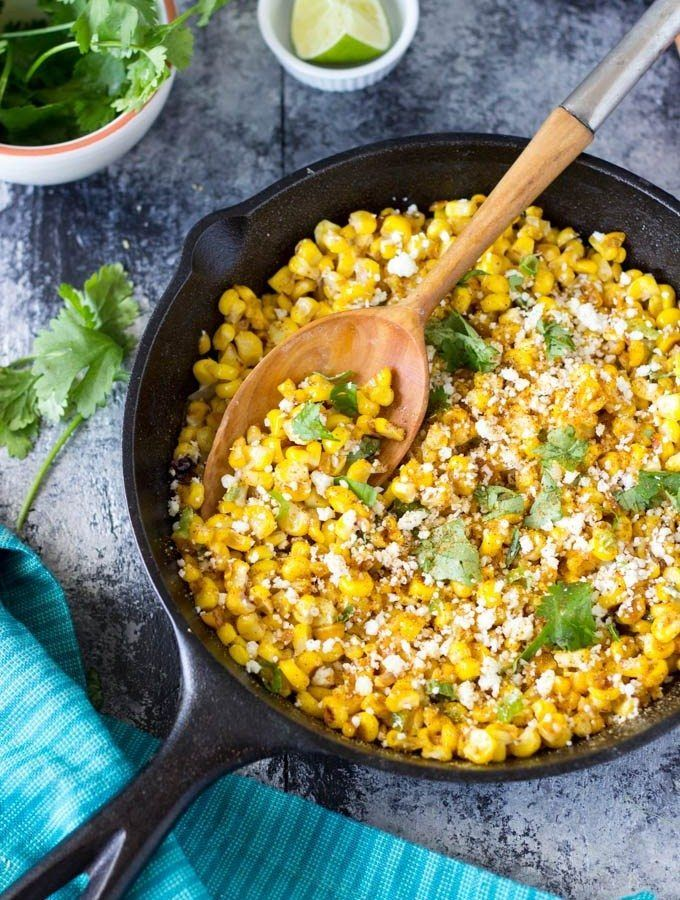 Skillet Mexican Street Corn is loaded with flavor! Sweet summer corn is delicious all on its own but when you char it in a skillet and add a bit of mayo, green onion, jalapeno (optional) cilantro, crumbled cotija cheese and chili powder..Oh my! Oh my! Oh my! Serve as a side dish, a dip (hello..tortilla...Read More