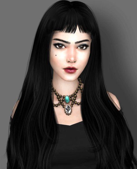 9c97f5553 Lilith Vatore Female Sim for The Sims 4 Cabelo, Passatempo, Fantasias,  Sapatos,