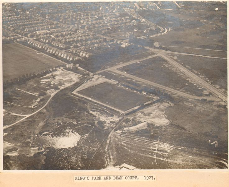 Bournemouth history | Aerial view of Dean Court football ground, Thistlebarrow Road