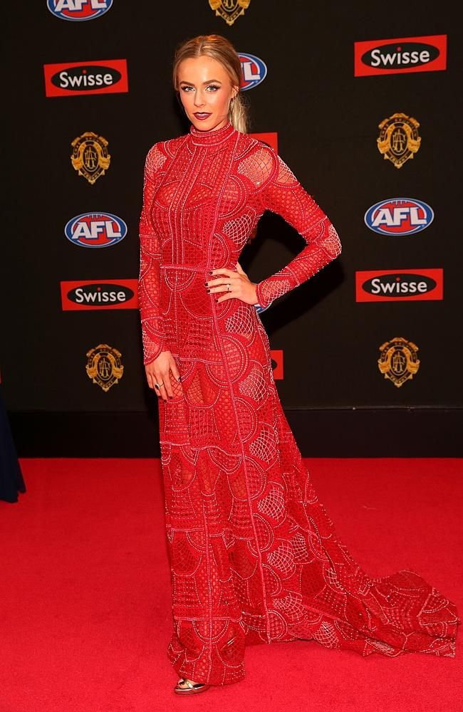 Myer designer Alex Perry, Melbourne design duo Anthony Pittorino and Jacob Luppino of J'Aton and Herald Sun fashion editor Kim Wilson review the glitz and glamour of the Brownlow red carpet.