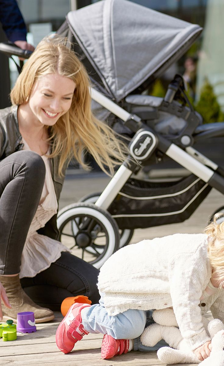 Mommy you can't catch me! • • • NXT90F has a Fully Lie-Flat seat unit where the child can stretch out for long naps. #emmaljunga #NXT90F #nxt90f #stroller #kinderwagen #buggy #barnvagn #vagn #cochecitos #pregnant #gravid #schwanger #sweden #madeinsweden