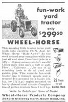 Wheel Horse Ride-Away Yard Tractor 1956 Ad Picture