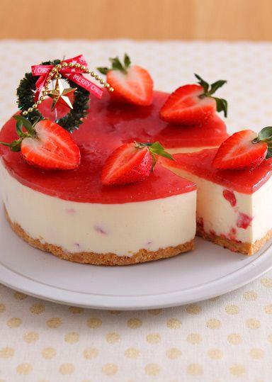 いちごのレアチーズケーキ のレシピ・作り方 │ABCクッキングスタジオのレシピ | 料理教室・スクールならABCクッキングスタジオ