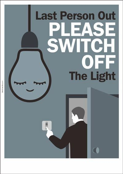 please switch off the light