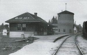 BLUE SEA, station, Québec - Ottawa & Gatineau Valley Railway station