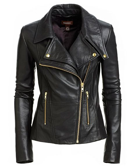 Crafted using supple textured lamb leather, Bianca speaks of quality as much as style. This supremely cool jacket is slim fitting and features an asymmetrical zipper front closure. Gold-tone zippers give a subtle glam-vibe