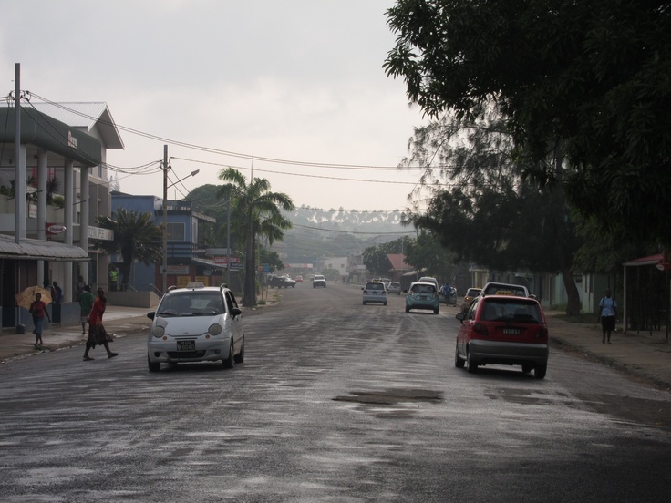 Main street.  Luganville, Espiritu Santo, lol I really didn't explore this place so this is what we got roads and markets
