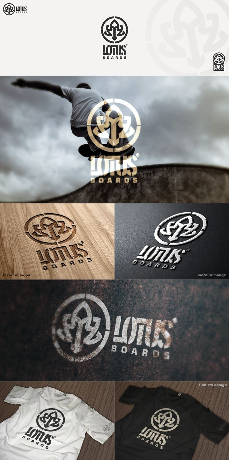 Logo design by pixelmatters #POTD99 09.11.2013 #skateboard #graphic #lotus