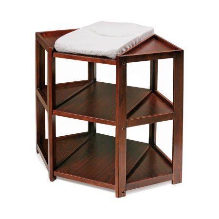 Free Shipping. Buy Badger Basket Diaper Corner Changing Table, Cherry at Walmart.com