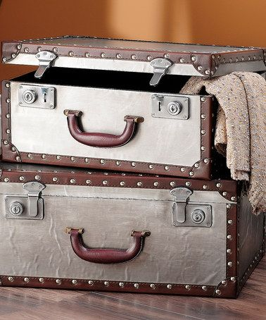 Love this Decorative Trunk Set on #zulily! #zulilyfinds