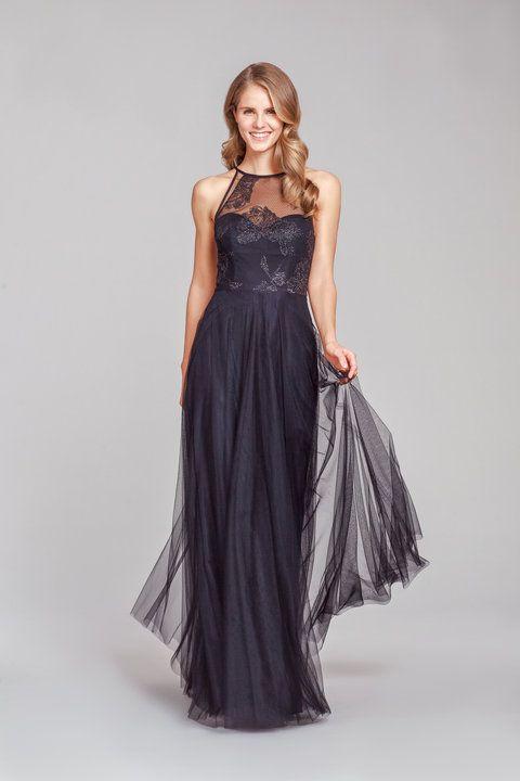 e2531ff4365 Style 5851 Hayley Paige Occasions bridesmaids dress - Black English net A-line  bridesmaids g…