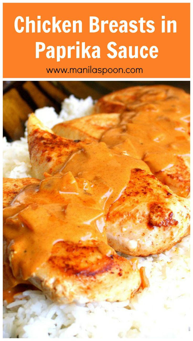This Chicken Breasts in Paprika Sauce recipe is truly yummy, pretty easy and wonderful for a weeknight family dinner! | manilaspoon.com