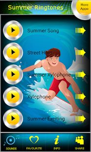Latest Summer Ringtones app for new summer season is ready for Android™ smartphones. Are you ready for top summer sounds? Summer soundboard will ensure you with the best summer ringtones and summer tones for all sunny days. Download hot summer app here https://play.google.com/store/apps/details?id=com.bluejaysounds.summerringtones  and enjoy free relaxing ringtones all over the year.
