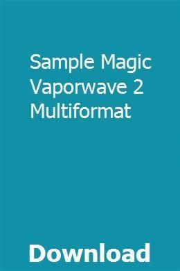 Sample Magic Vaporwave 2 Multiformat download online full
