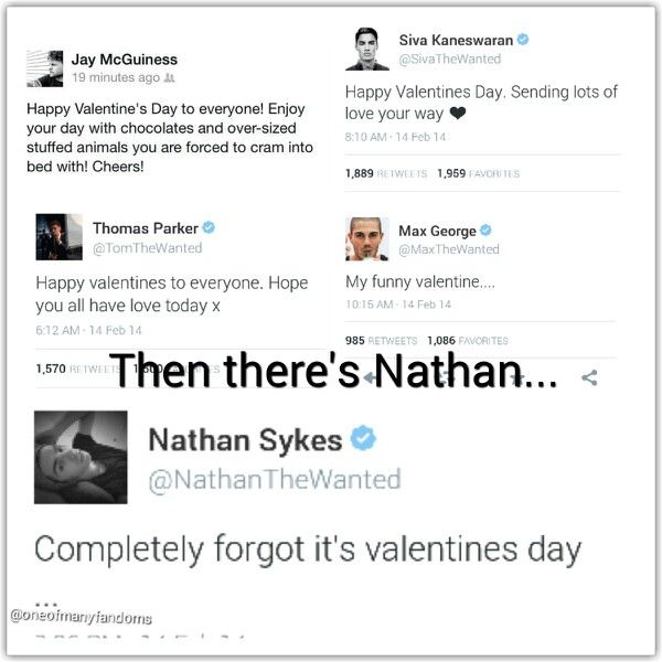 The Wanted wishing everyone on Valentine's day