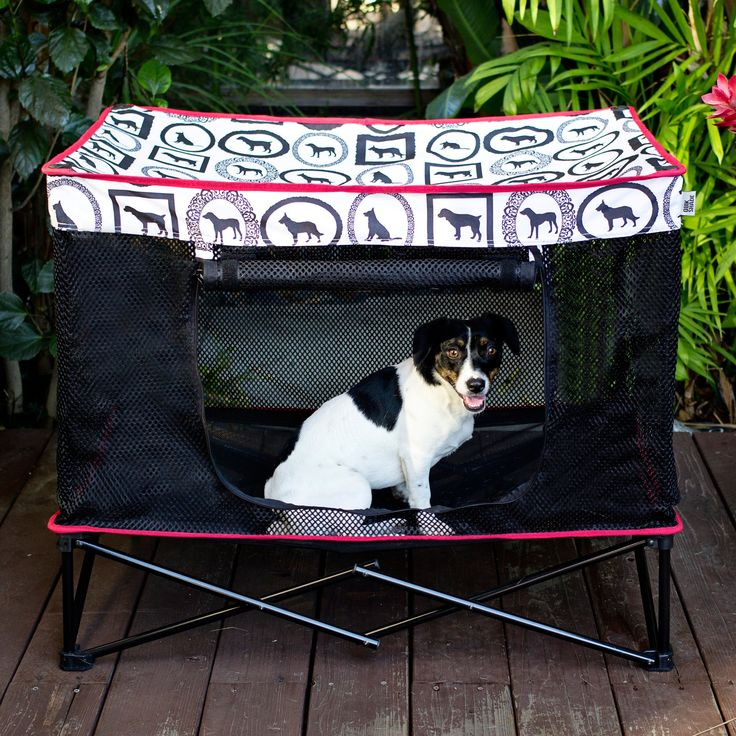 Have to have it. Quik Shade Instant Pet Kennel with Mesh Bed - $49.99 @hayneedle