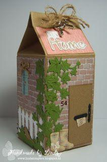 """Handmade by Linda: Melkpakje """" New Home """""""