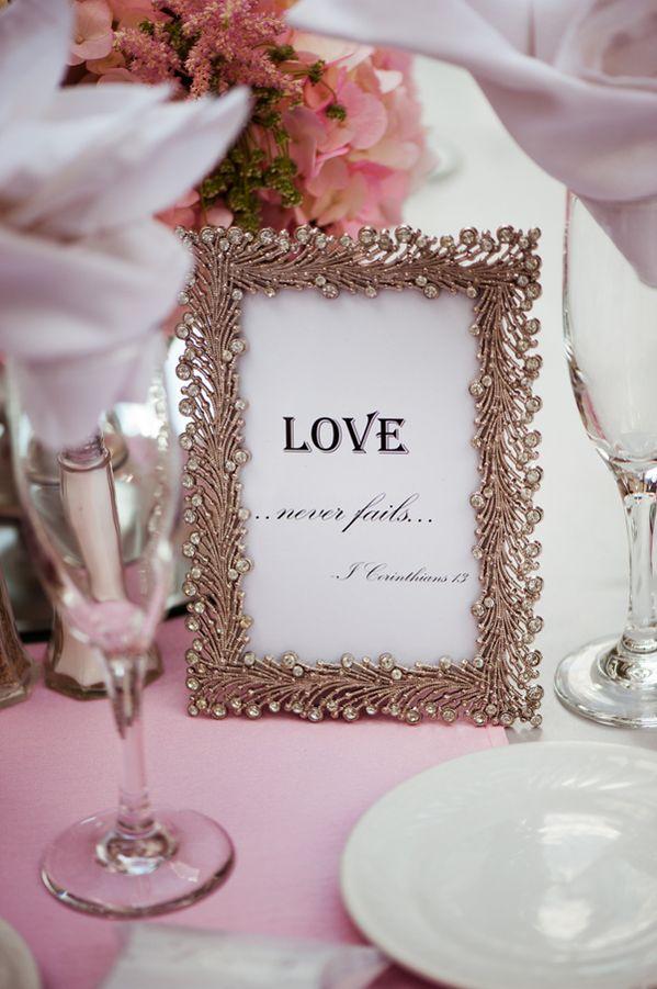 Wedding sign ideas: Love never fails
