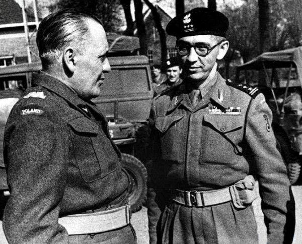 Franciszka Skibinski with General Maczek.