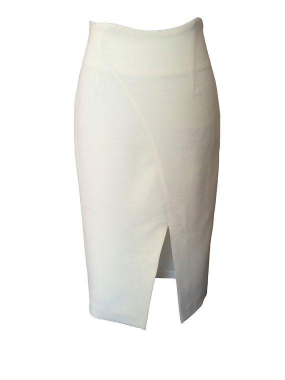 Модная стильная юбка юбка с разрезом спереди офисная от PortaStyle