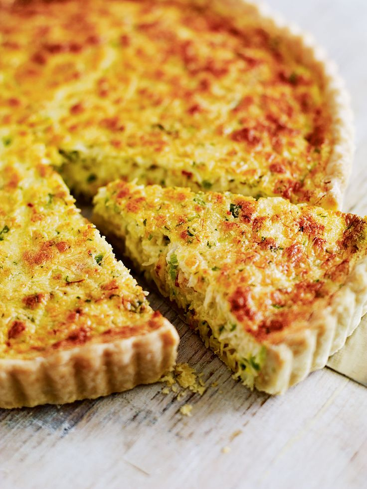 Debbie Major's crab tart recipe is flavoured with saffron and spring onion for a delicate springtime treat.
