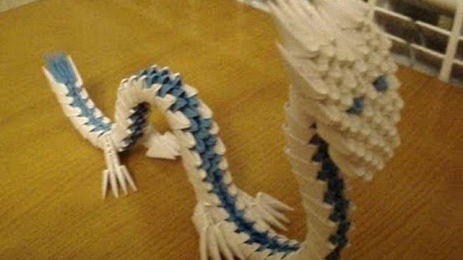 3D Kağıt Sanatı - Müthiş Ejderha Heykeli - Japon kağıt katlama sanatı - teknikleri, örnekleri ve ipuçlarını videolu anlatımı. Kağıttan yaratıcı ejderha yapımı