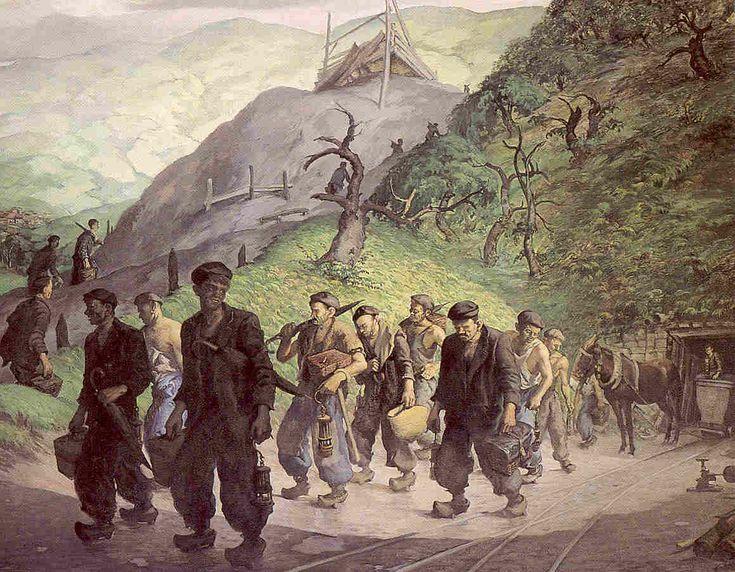 'Mineros' - Mariano Moré (Gijón, Asturias, Spain, 1899 - 1974)