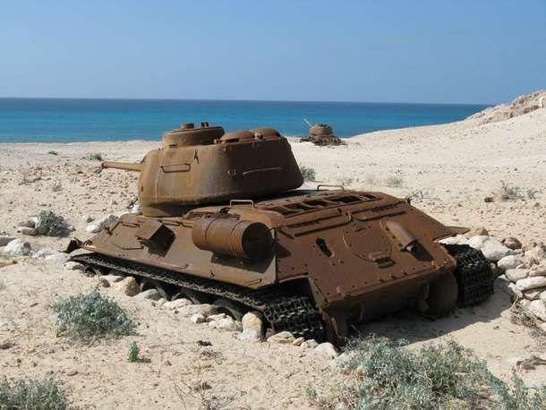 Abandoned Soviet Tank left on Socotra Island Yemen  #abandoned #soviet #tank #left #socotra #island #yemen #photography