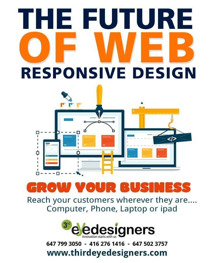 Website designing company in Toronto. Make your website responsive by thirdeyedesigners. You can also visit our official website at http://www.thirdeyedesigners.com Phone: 647-799-3050, 416-276-1416, 647-502-3772 #WebsiteDesign, #WebsiteDevelopment , #SEO , #SMM