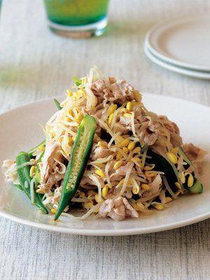 【ELLE a table】豚しゃぶとオクラ、もやしのナムル風レシピ|エル・オンライン